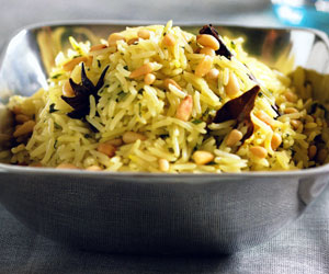 Mint and Cilantro Rice Recipe