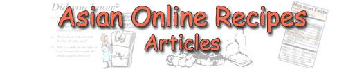 Asian Online Recipes - Articles